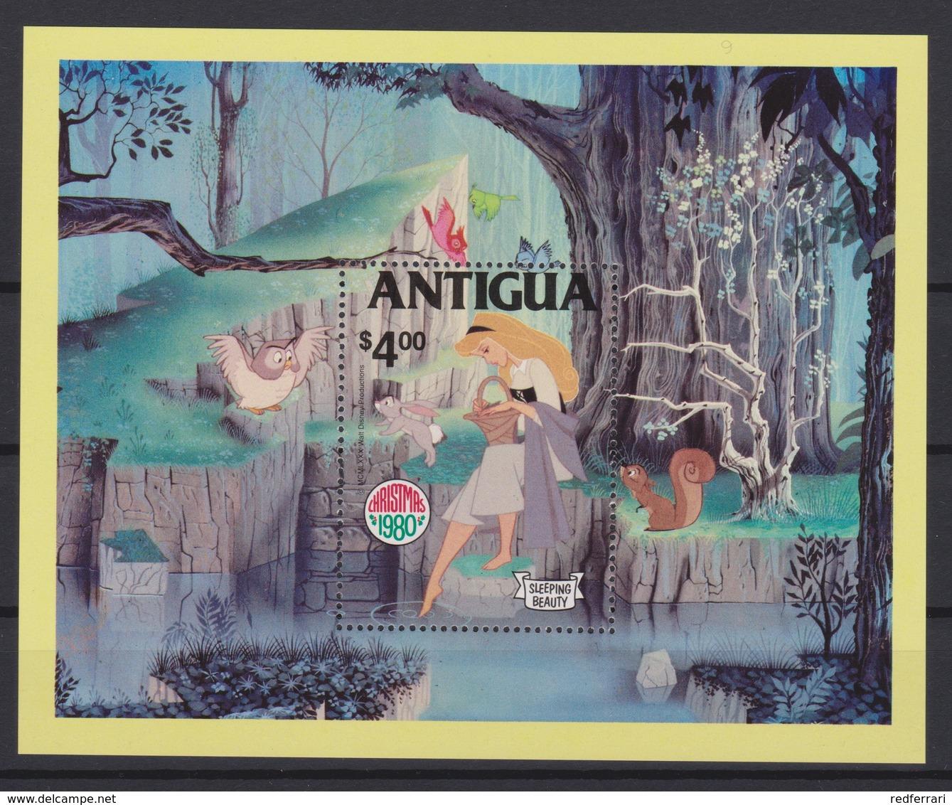 2079 Walt Disney Antigua ( CHRISTMAS 1980 - SLEEPING BEAUTY ) - Disney