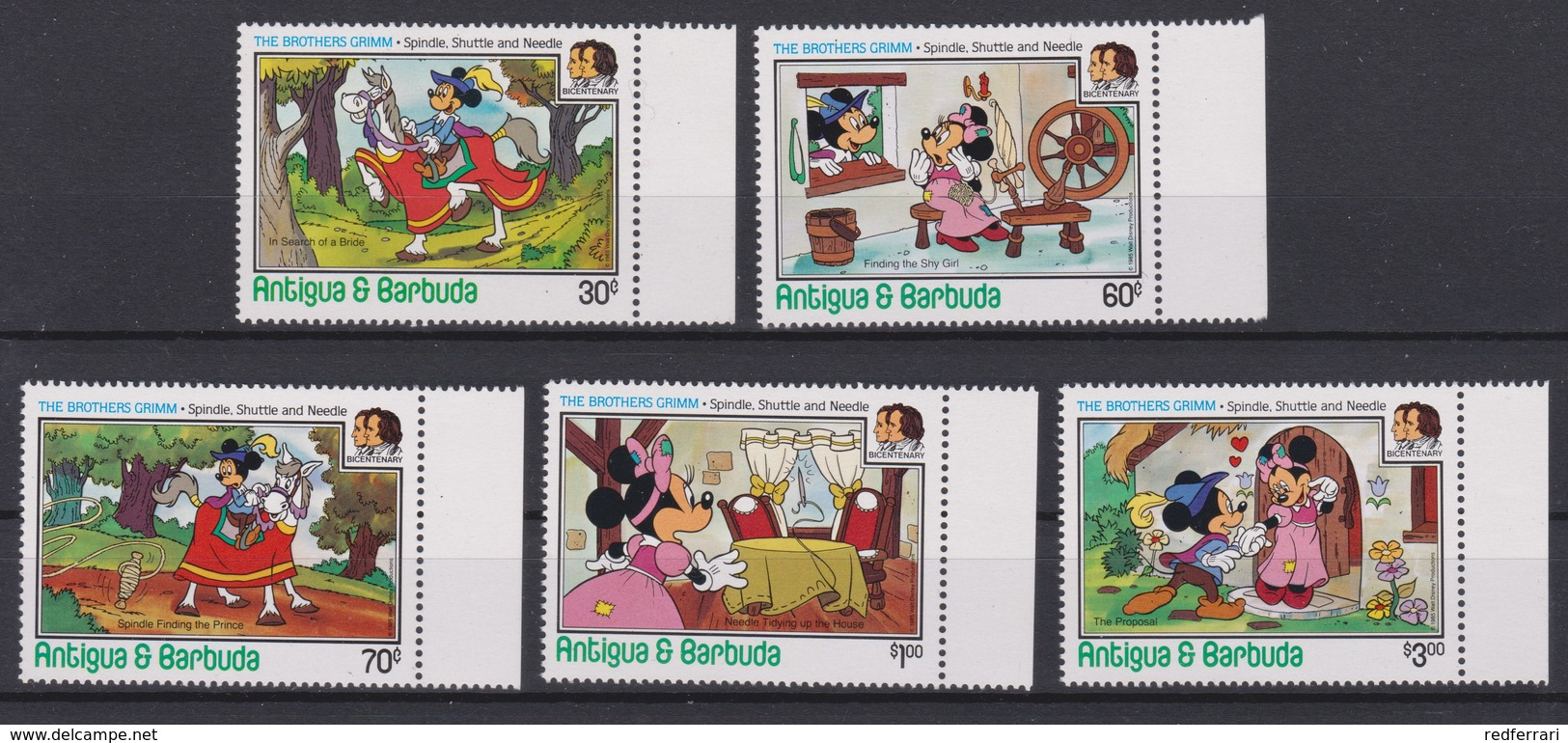 2081 Walt Disney Antigua & Barbuda ( THE BROTHERS GRIMM - Spindle Shuttle And Needle ) - Disney