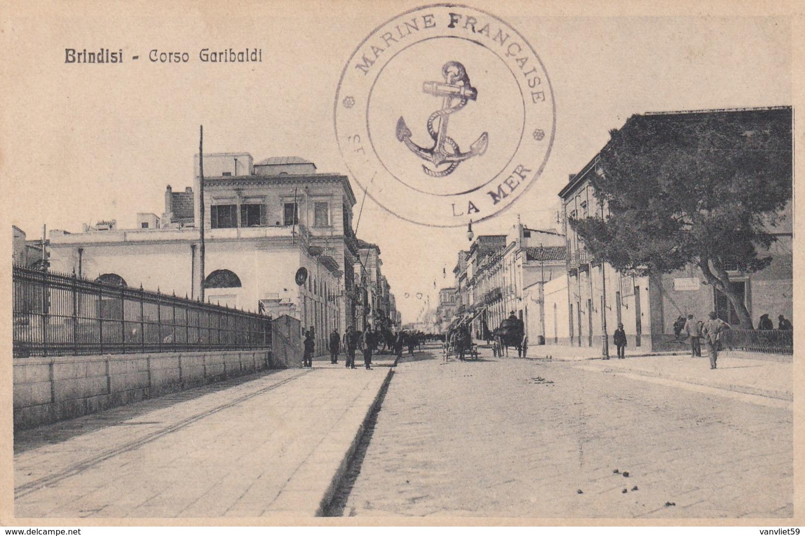 BRINDISI-CORSO GARIBALDI-CARTOLINA VIAGGIATA IL 11-4-1916 - Brindisi