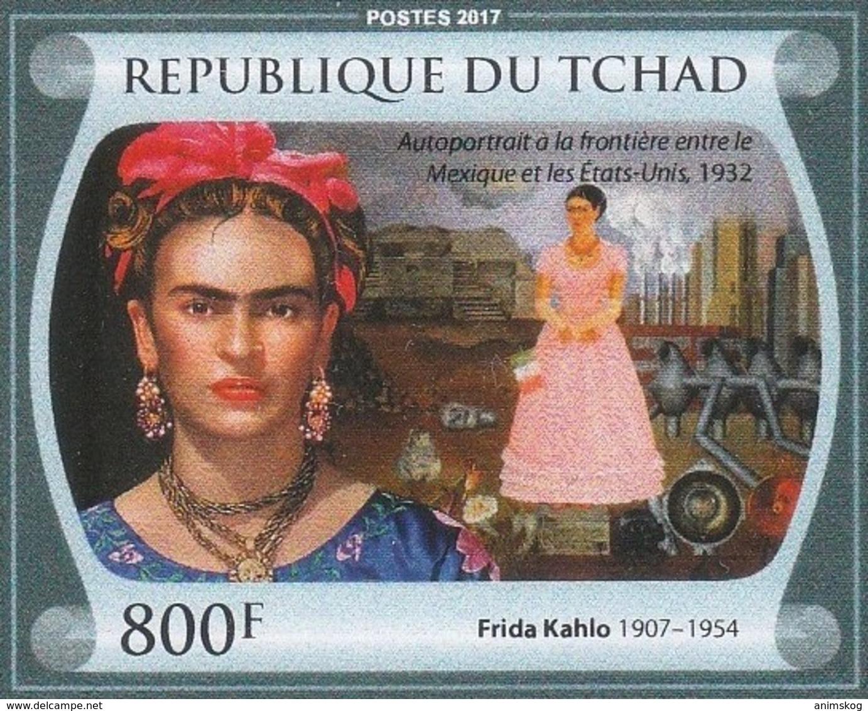 Tschad 2017**, Malerin Frida Kahlo, Kaktus / Chad 2017, MNH, Painter Frida Kahlo, Cactus - Sukkulenten