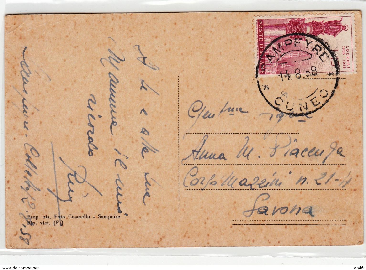 Alta Valle Varaita-Gruppo Di Monte Viso M.3341 E Torre Reale M.2877-Viaggiata 1958-Originale Al 100%an - Cuneo