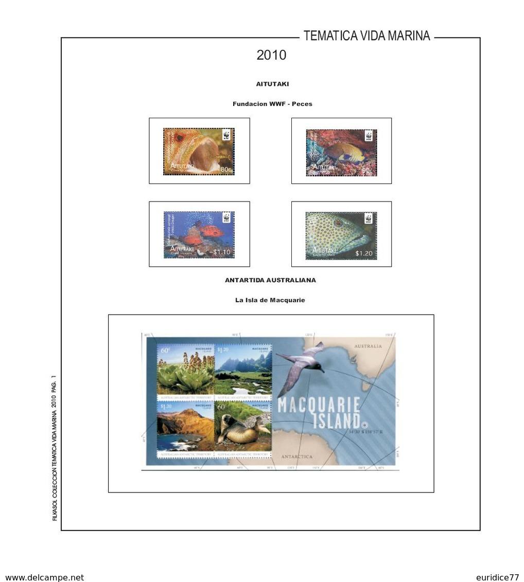 Suplemento Filkasol TEMATICA VIDA MARINA 2010 - Ilustrado Color Sin Montar - Álbumes & Encuadernaciones