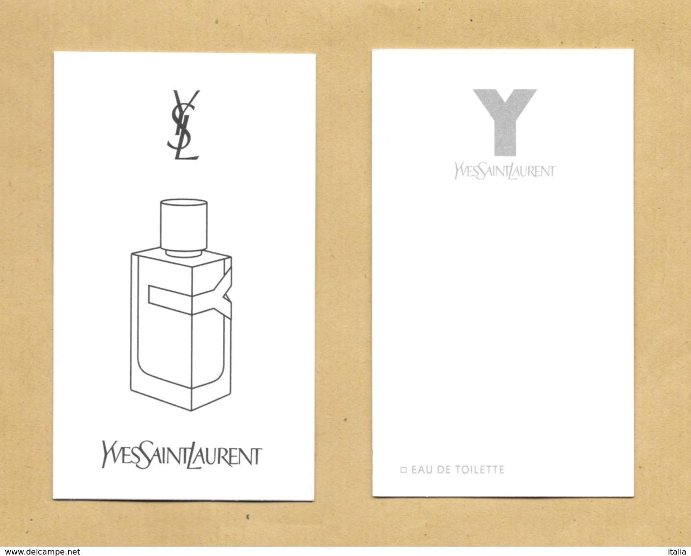 Carte Parfumée Perfume Card Y * YVES SAINT LAURENT YSL * R/V - Perfume Cards