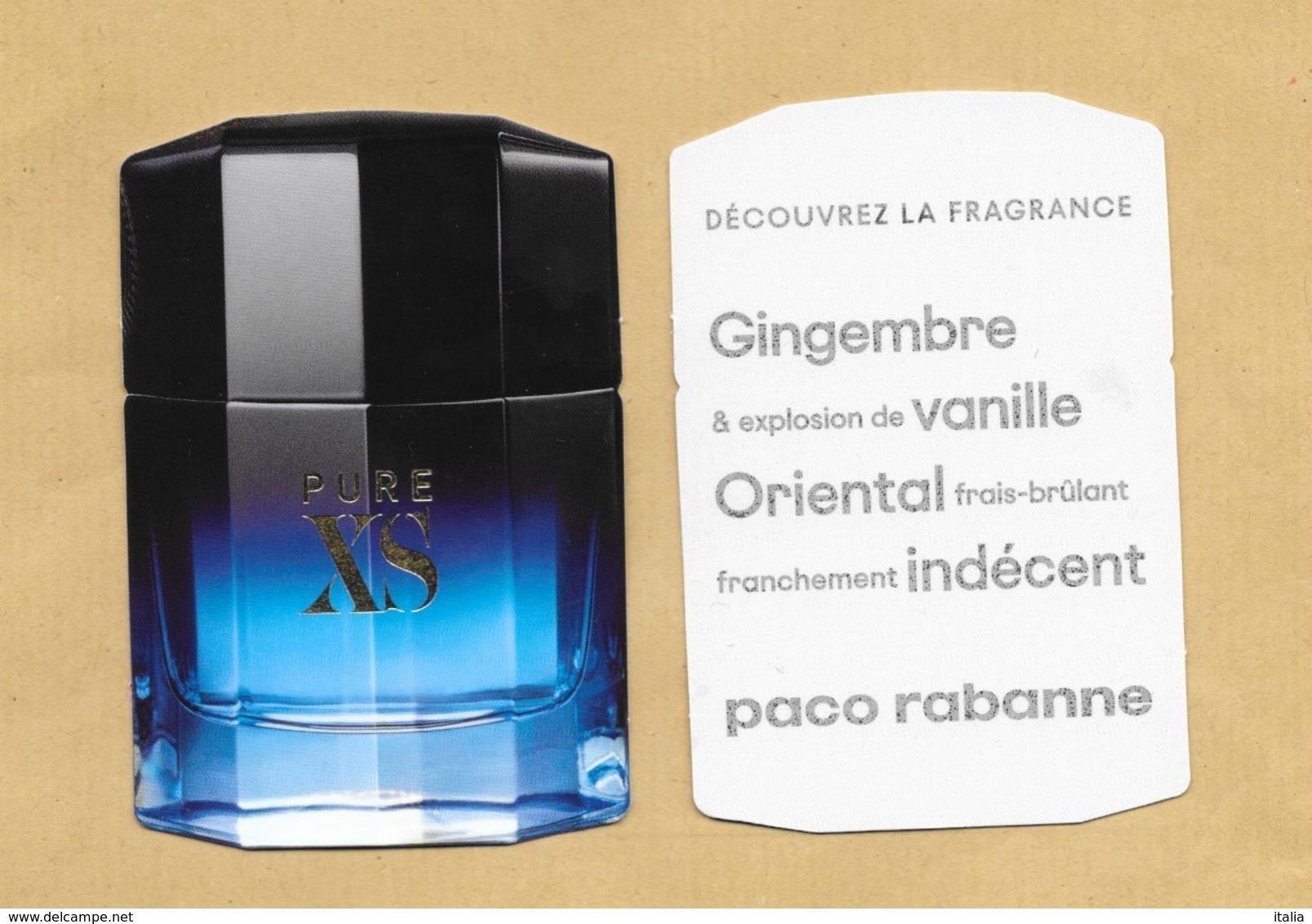 Carte Parfumée Replica Perfume Card PURE XS * PACO RABANNE * R/V - Modern (from 1961)