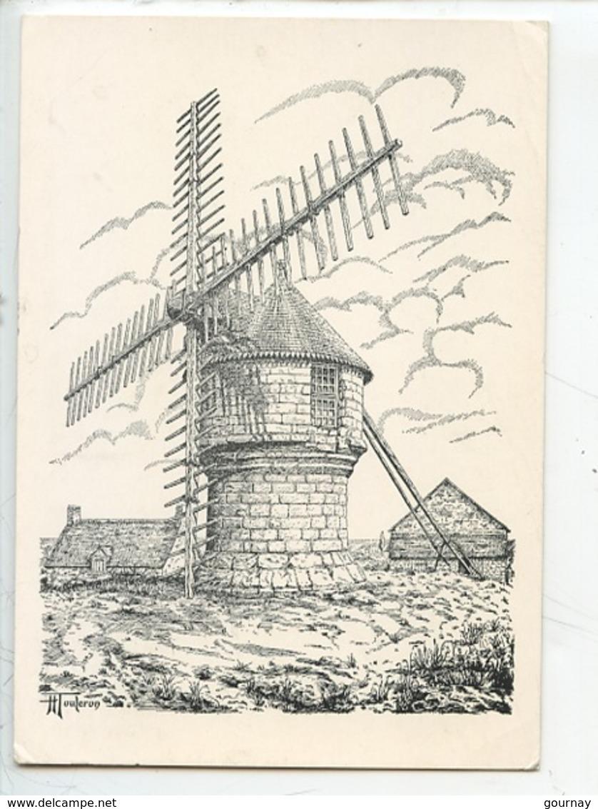 """Moulin De Cremeur Dit """"moulin Du Diable (henry Touleron Illustrateur) Sur La Commune De Guérande) - Guérande"""