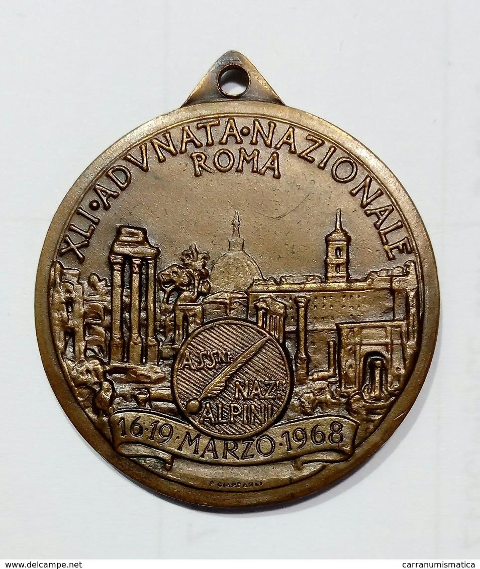 MEDAGLIA - ADUNATA NAZIONALE ALPINI - XLI^  - ROMA ( 1968 ) Opus: GIAMPAOLI - Altri