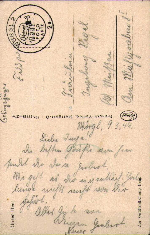 Gebirgsjäger, Schwerer Aufstieg, Feldpostkarte, Wörgl, Deutsche Wehrmacht, Drittes Reich, Militär - Weltkrieg 1939-45