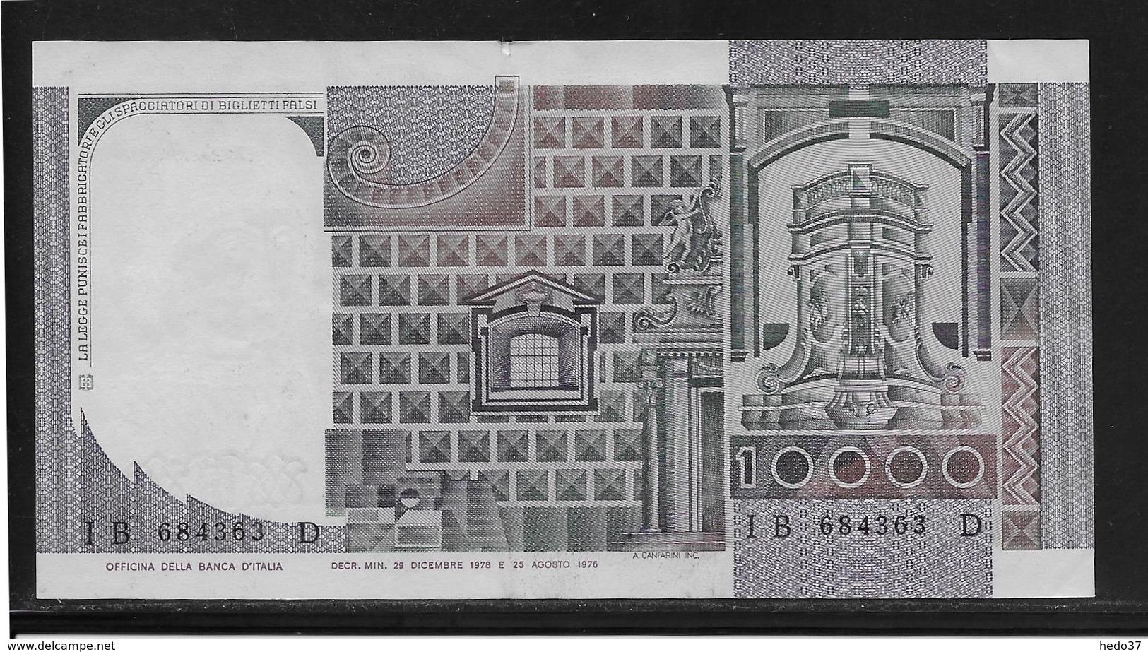 Italie - 10000 Lire - Pick N°106a - SUP - [ 2] 1946-… : République