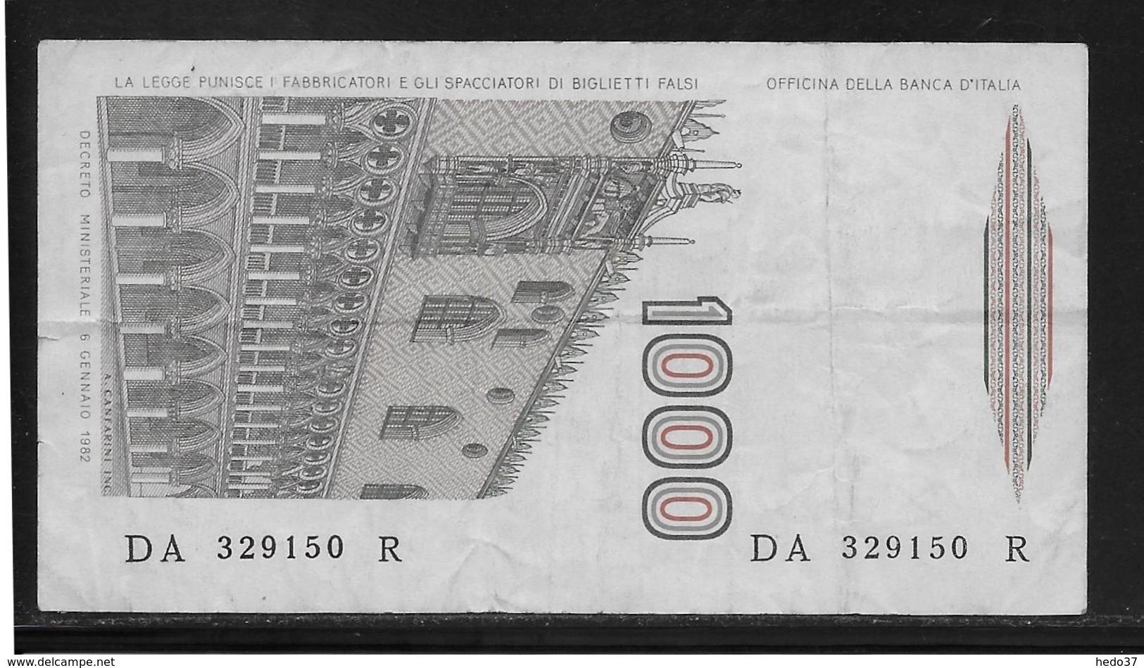Italie - 1000 Lire - Pick N°109 - TTB - [ 2] 1946-… : République