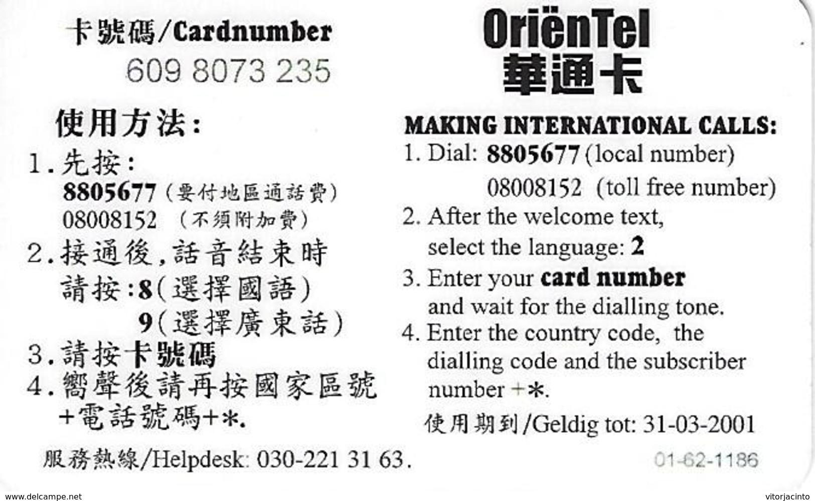 OrienTel Prepaid Phonecard - China - Chine