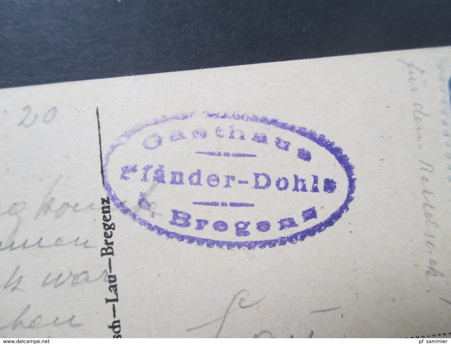 AK Österreich 1920 Pfänder Bei Bregenz. Gasthaus Pfänder Dohle Bei Bregenz. - Hotels & Gaststätten