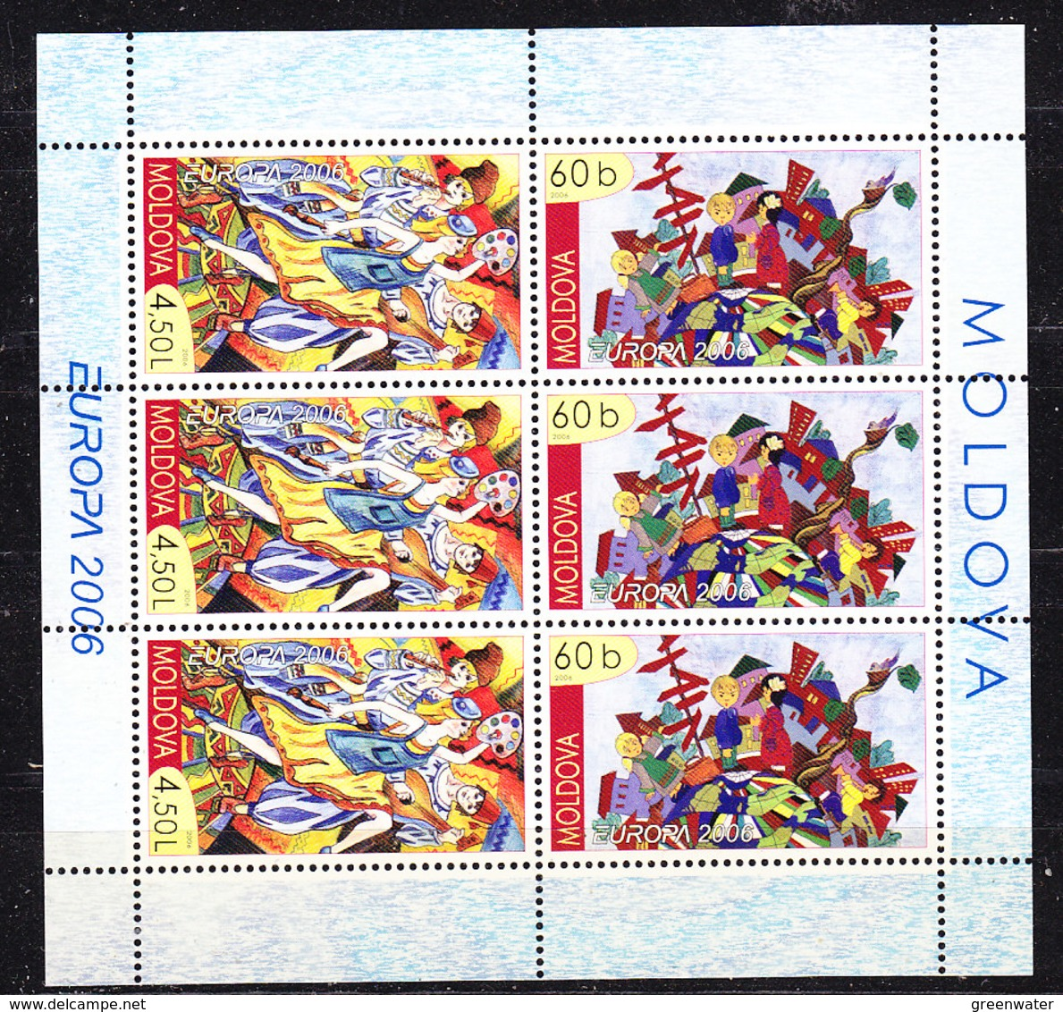 Europa Cept 2006 Moldova Booklet Pane ** Mnh (39142) - 2006