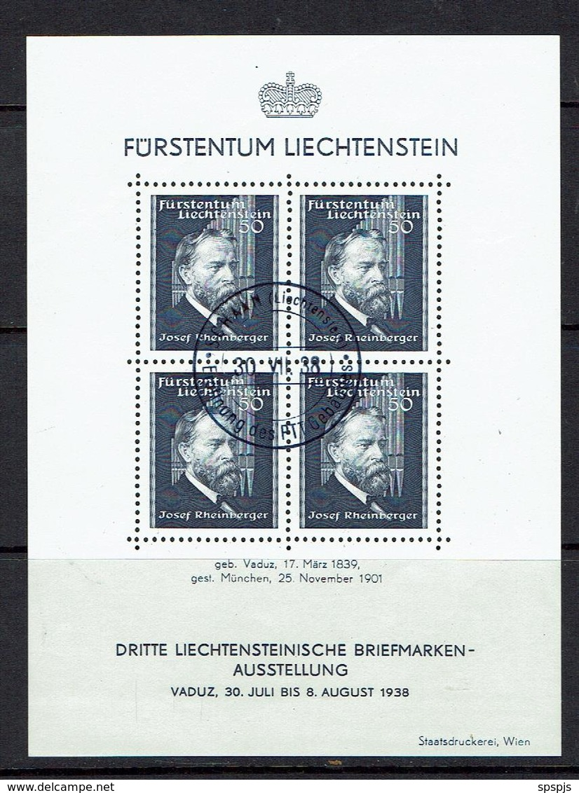 LIECHTENSTEIN...1938 - Blocks & Sheetlets & Panes