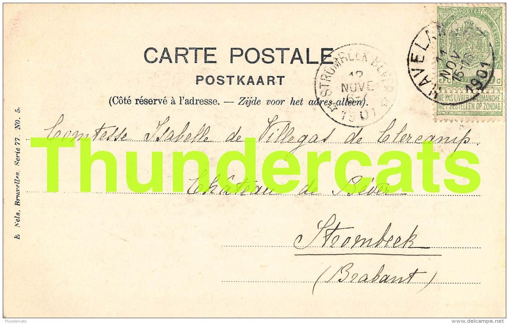 CPA LES ENVIRONS D'HAVELANGE LE CHATEAU DE FLOSTOY NELS SERIE 77 NO 5 - Havelange
