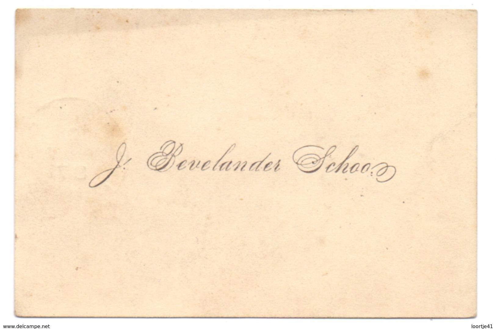 Visitekaartje - Carte Visite - Visiting Card - J. Bevelander Schoon - Verstuurd Groede Naar Terneuzen - Cartes De Visite