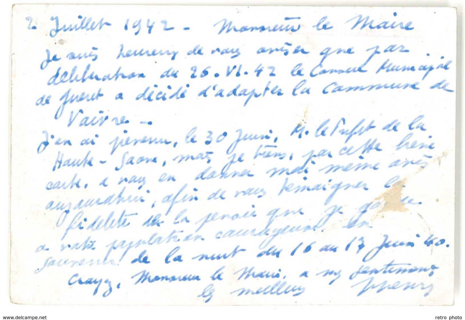 Cp Entier Postal, Correspondance Du Préfet De La Creuse, Guéret, Adressée à Vaivre   ( PHI ) - Entiers Postaux