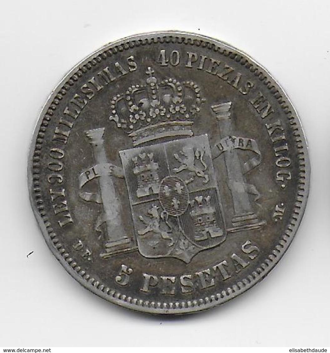 ESPAGNE - 5 PESETAS ARGENT 1876 - Eerste Muntslagen