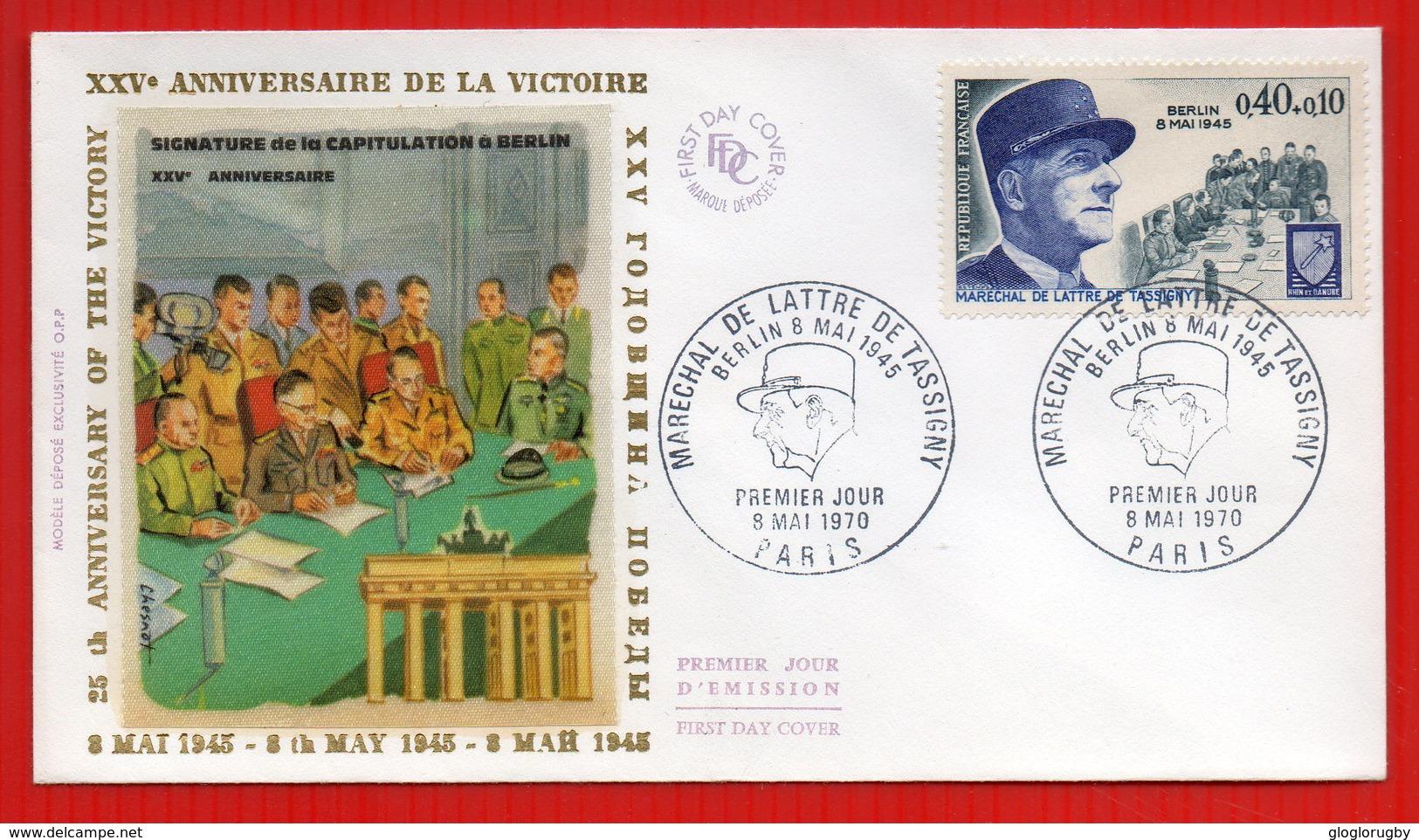 FDC 25EME ANNIVERSAIRE DE LA VICTOIRE - Seconda Guerra Mondiale