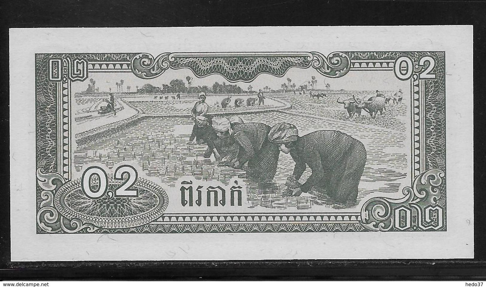 Kampuchéa - 0,2 Riel -  Pick N°26  - NEUF - Billets