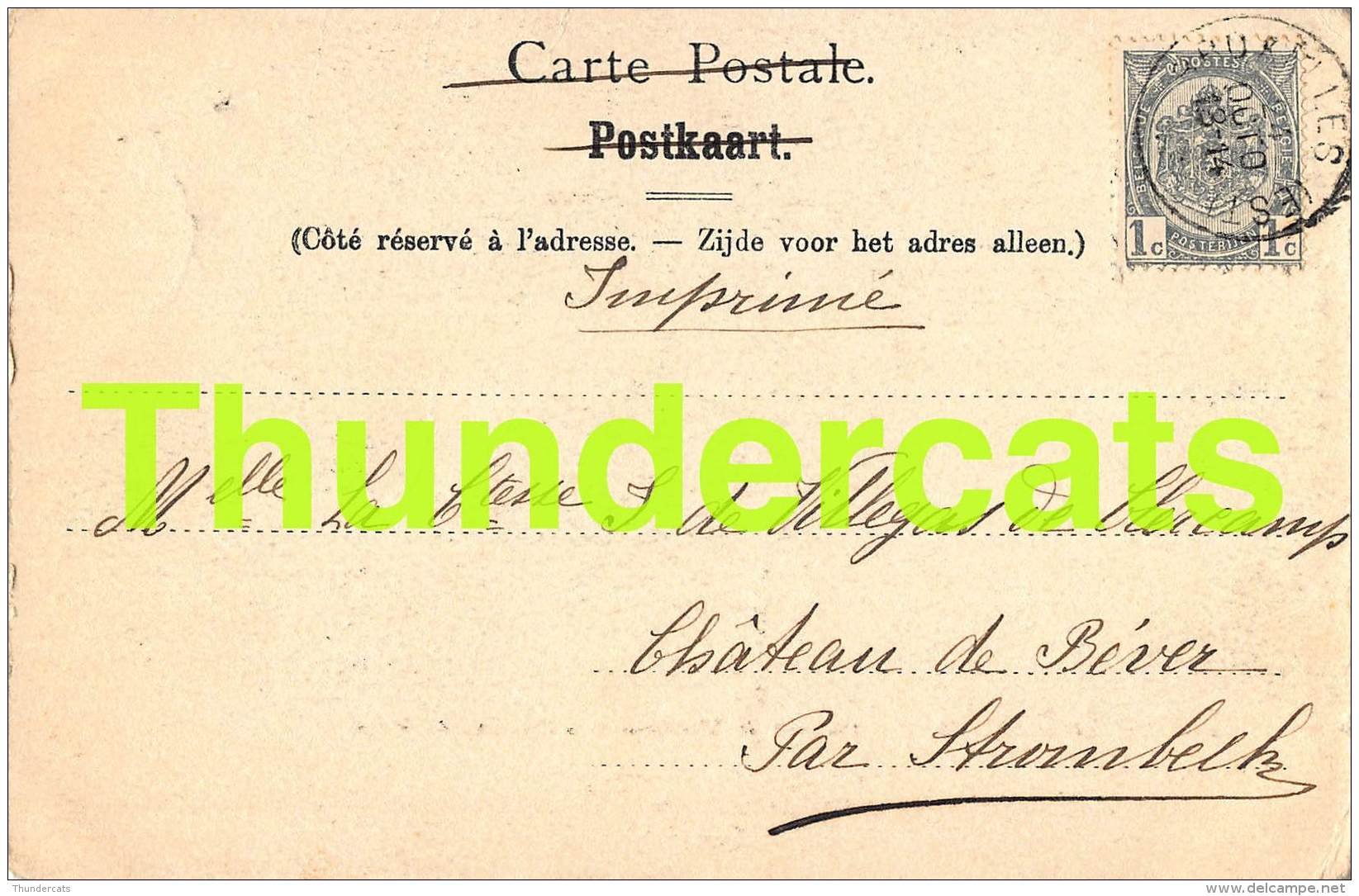 CPA SINT ULRIKSKAPELLEN ENVRIONS DE BRUXELLES CHATEAU DE NIEUWMOLEN A CAPELLEN ST ULRIC NELS SERIE 11 NO 154 - Dilbeek
