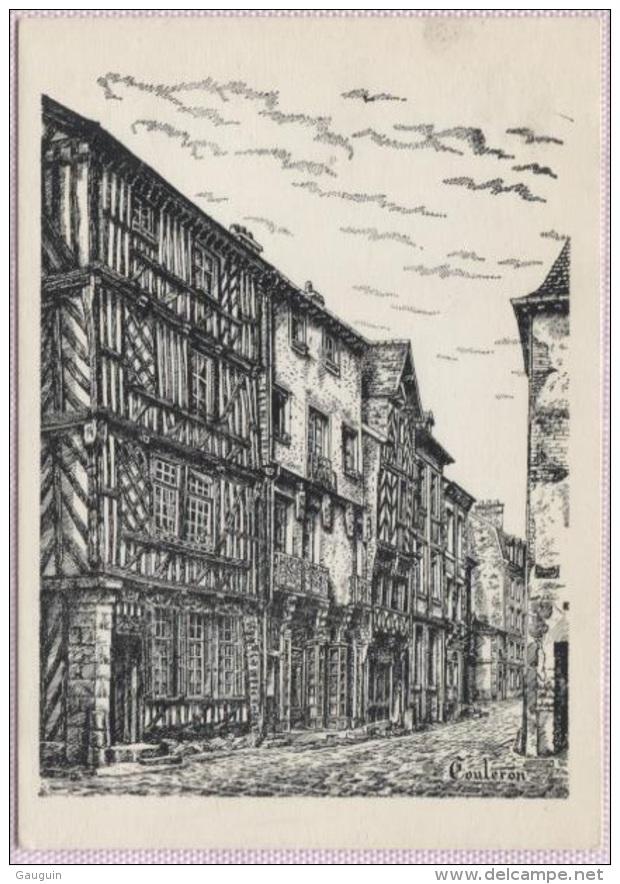 CPM - ILLUSTRATEUR Henri TOULERON - RENNES ANCIENNES MAISONS Rue Du CHAPITRE - Edition De L'auteur - Other Illustrators