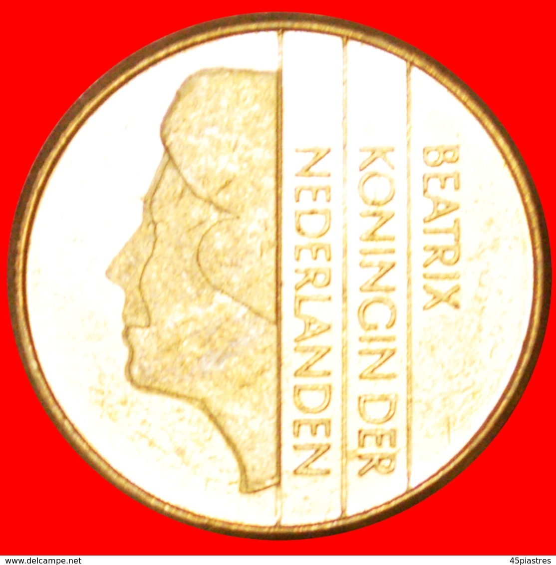 # PORTRAIT DΟWN: NETHERLANDS ★ 5 GUILDERS 1989 MINT LUSTER! LOW START ★ NO RESERVE! Beatrix 1980-2013 - [ 3] 1815-… : Kingdom Of The Netherlands