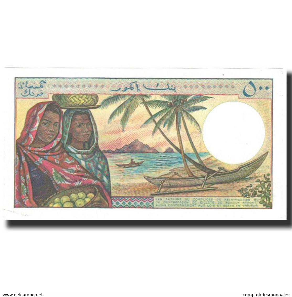 Billet, Comoros, 500 Francs, 1986, KM:10a, NEUF - Comores