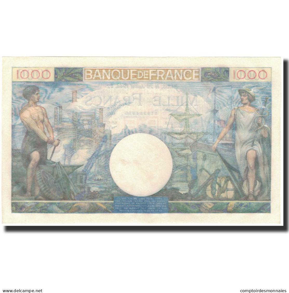 France, 1000 Francs, 1 000 F 1940-1944 ''Commerce Et Industrie'', 1944-07-20 - 1 000 F 1940-1944 ''Commerce Et Industrie''