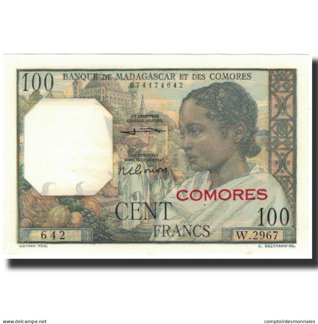 Billet, Comoros, 100 Francs, 1963, KM:3b, NEUF - Comores