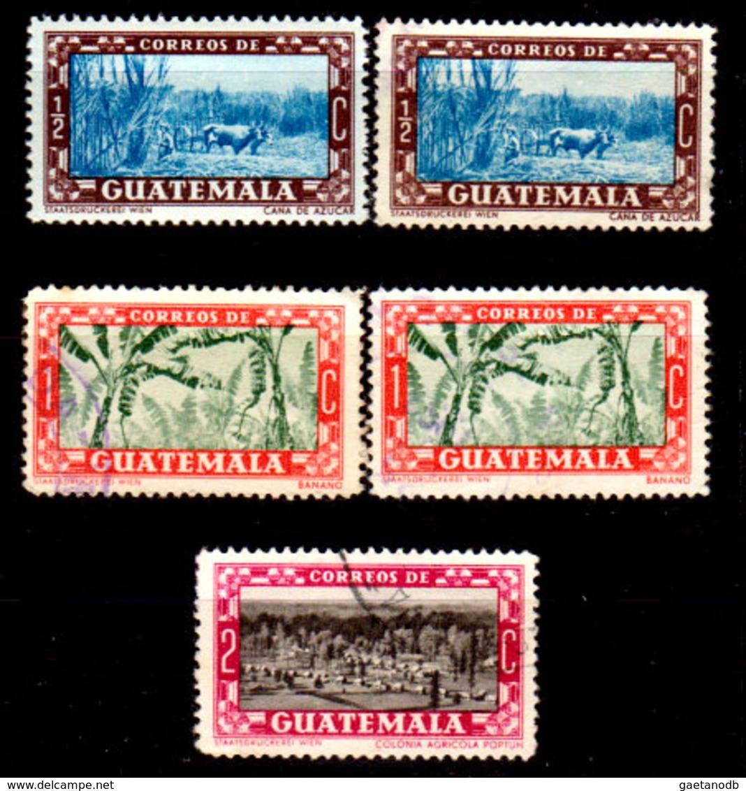 Guatemala-0131 - Emissione 1953 (+/o) LH/Used - - Guatemala