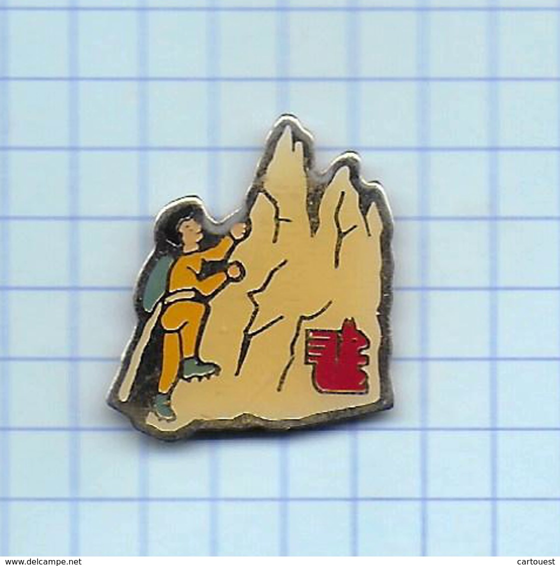 Pin's Pins /  THEME SPORT ALPINISME Escalade   /    Sponsor Banque Écureuil ( Dos Promos Plus ) - Alpinism, Mountaineering