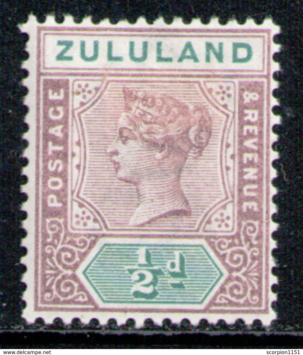 ZULULAND 1894 - From Set MH* - South Africa (...-1961)