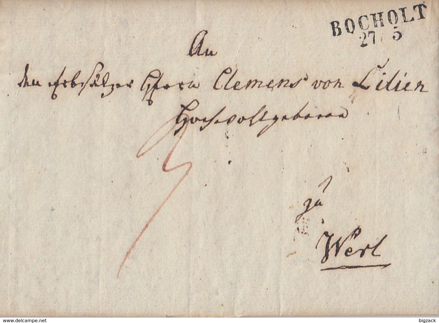 Preussen Brief L2 Bocholt 27.5. Nach Werl Mit Inhalt (1830) - Preussen