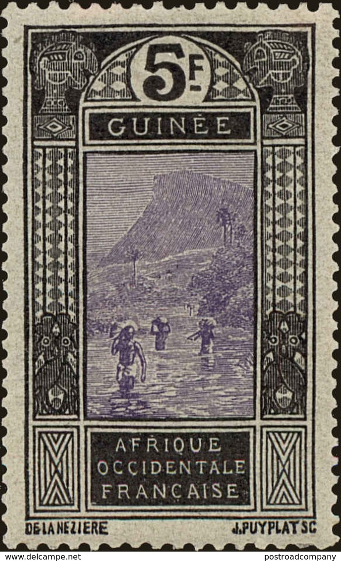 French Guinea Scott #103, 1913, Hinged - Ungebraucht