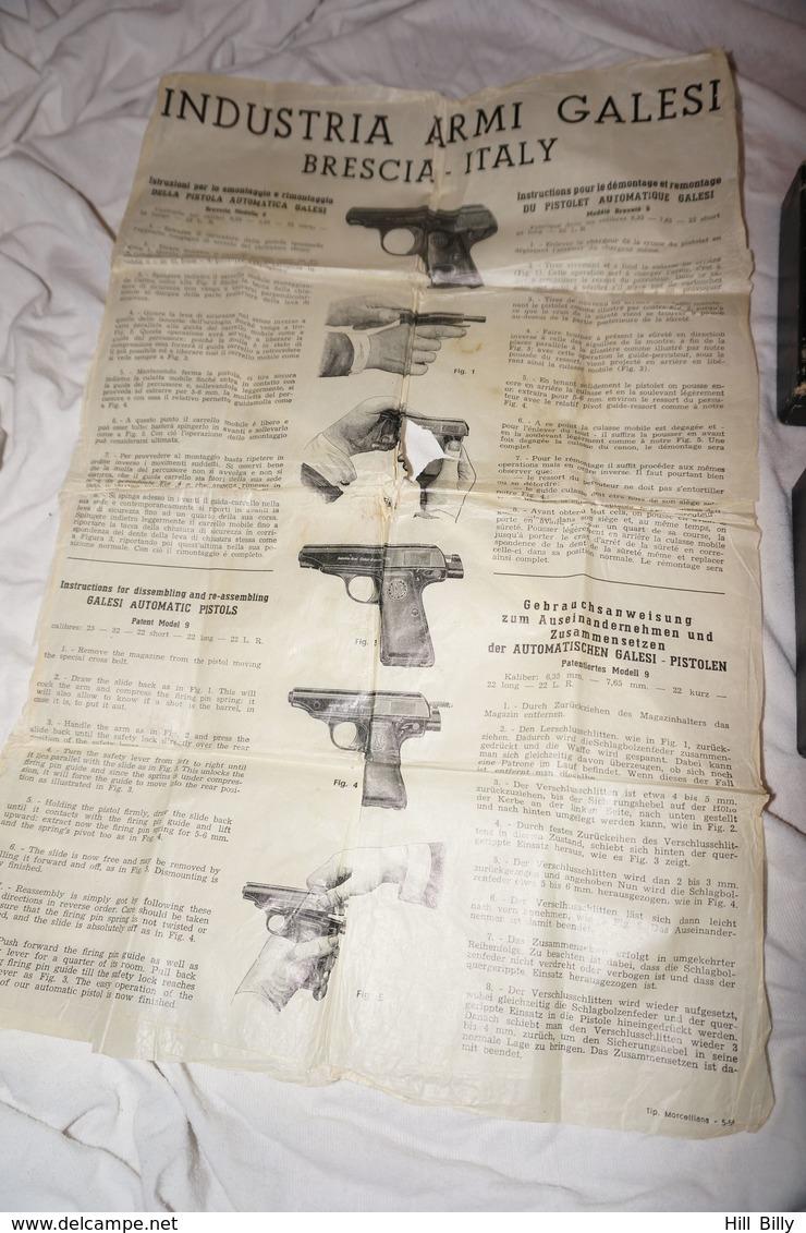 Boite De Pistolet Armi Galesi !! - Militaria
