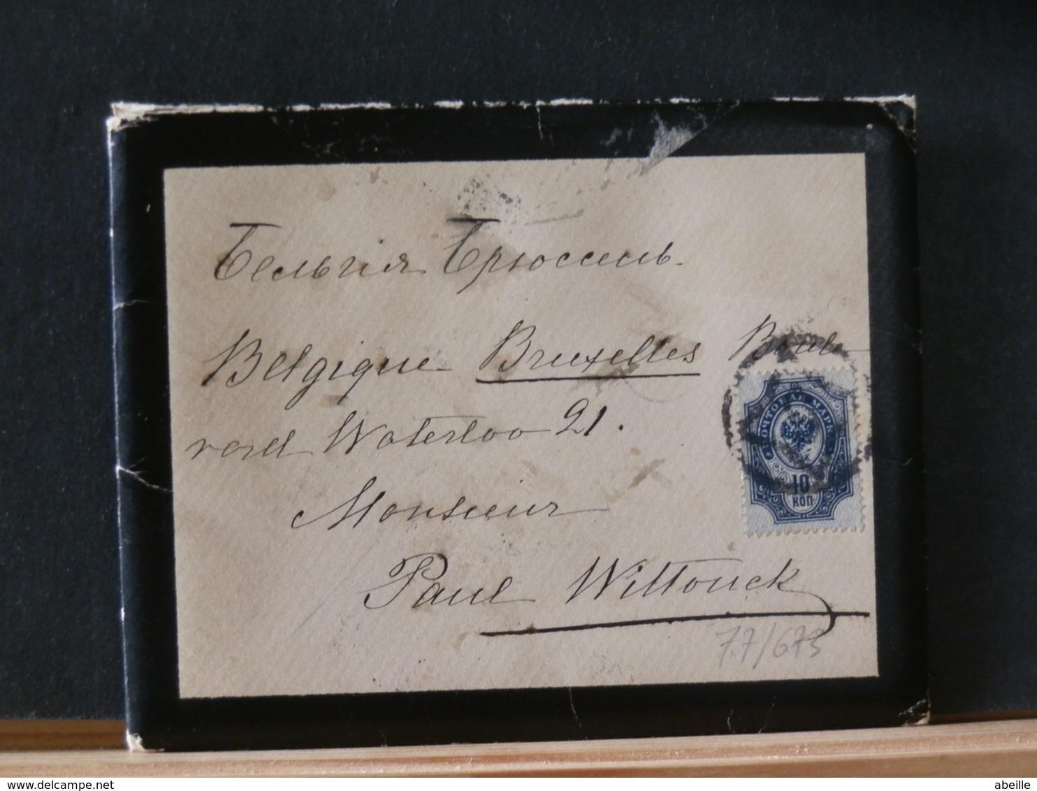 77/673   LETTRE POUR LA  BELG.  AVEC CONTENU  1902 - 1857-1916 Imperium