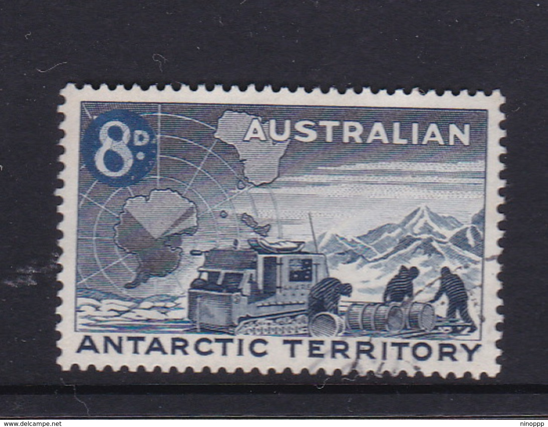 Australian Antarctic Territory  S 4 1959 Definitives 8 D Blue Used - Australian Antarctic Territory (AAT)