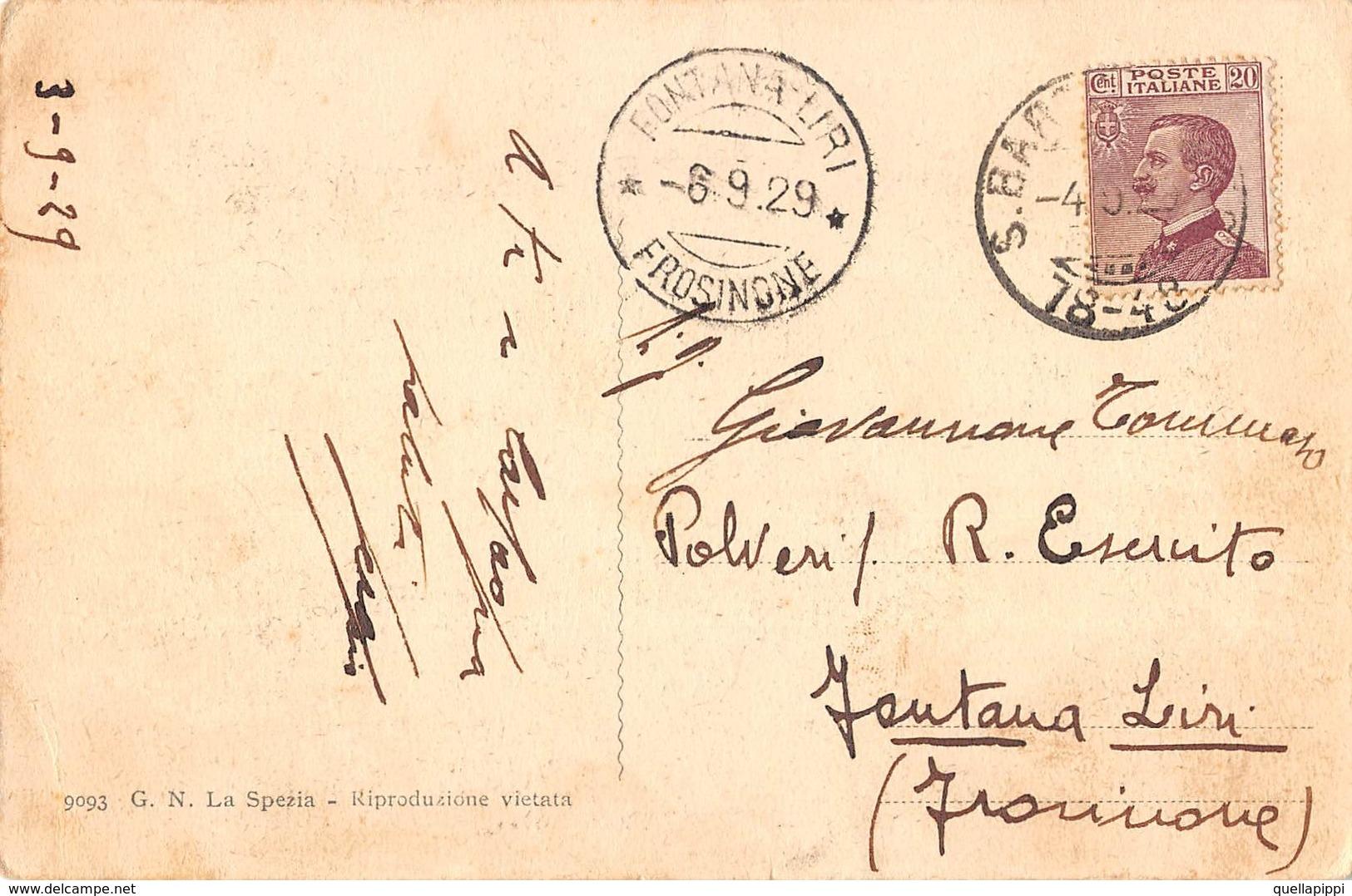 """07903 """"LA SPEZIA - BAGNI HELIOS"""" ANIMATA, BARCHE. CART  SPED 1929 - La Spezia"""