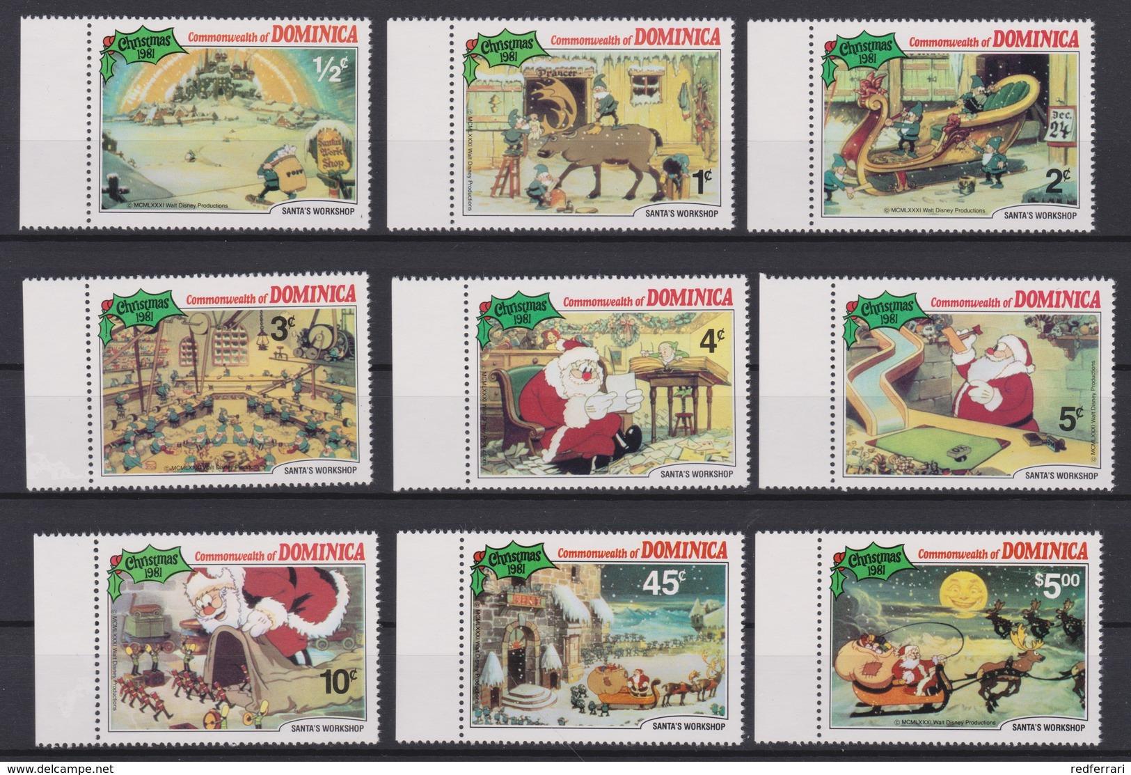2142  WALT DISNEY - Commonwealth Of   DOMINICA  ( CHRISTMAS 1981 )  SANTA'S WORKSHOP . - Disney