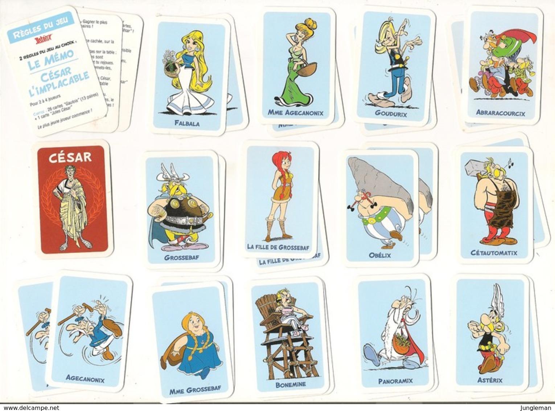Mini Jeu De 27 Cartes Astérix - César L'implacable - 13 Paires à Réunir - Très Bon état. - Speelkaarten