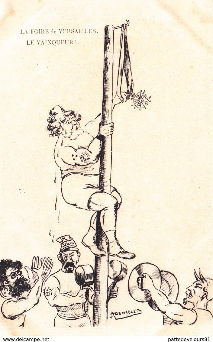 CPA Politique Caricature Satirique Foire De VERSAILLES Vainqueur FALLIERES / COMBES / Illustrateur DEMASLES - Satiriques