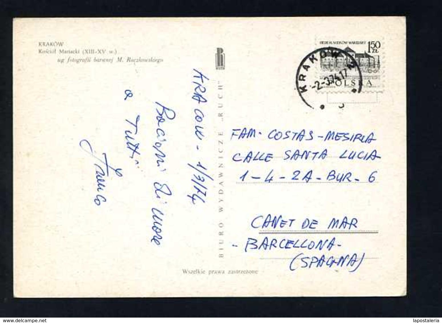 Polonia. Kraków *Kosciol Mariacki* Edit. Ruch. Circulada 1974. - Polonia