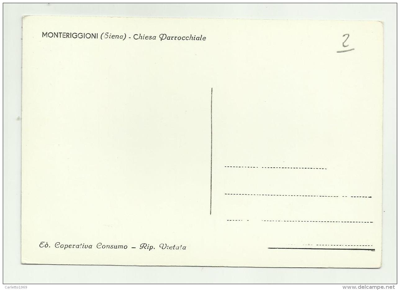 MONTERIGGIONI - CHIESA PARROCCHIALE NV FG - Siena