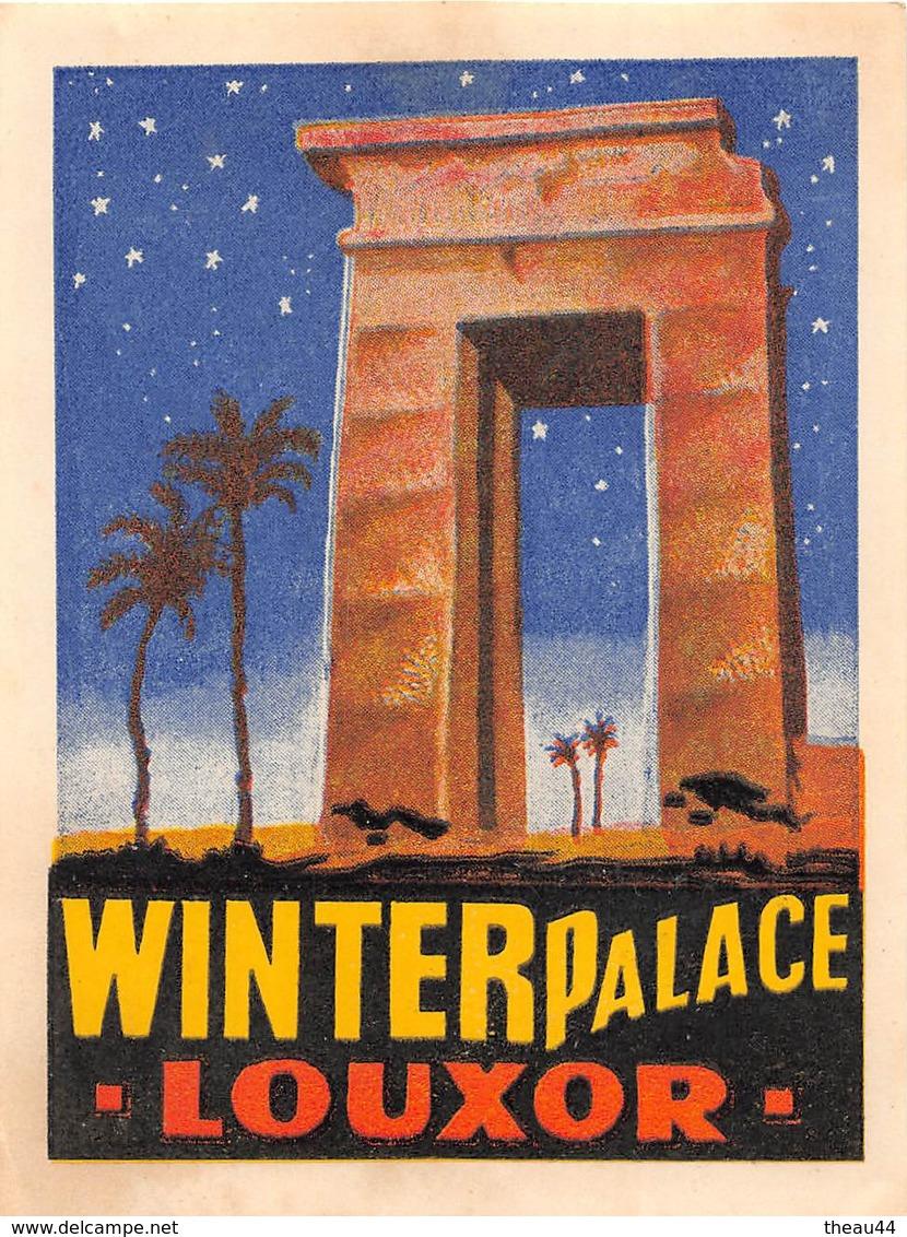"""¤¤  -  Etiquette De L'Hôtel """" WINTER PALACE """"   -  Egypte , Louxor    -  Voir Description - Etiquettes D'hotels"""