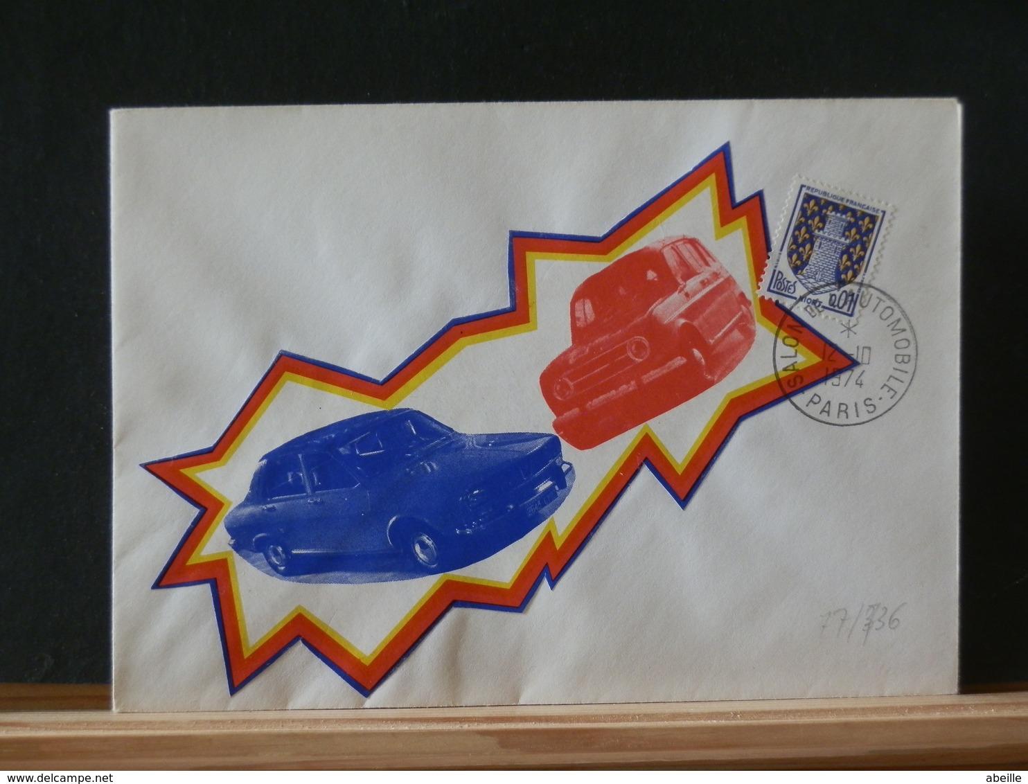 77/736 DOC. FRANCE OBL. - Cars