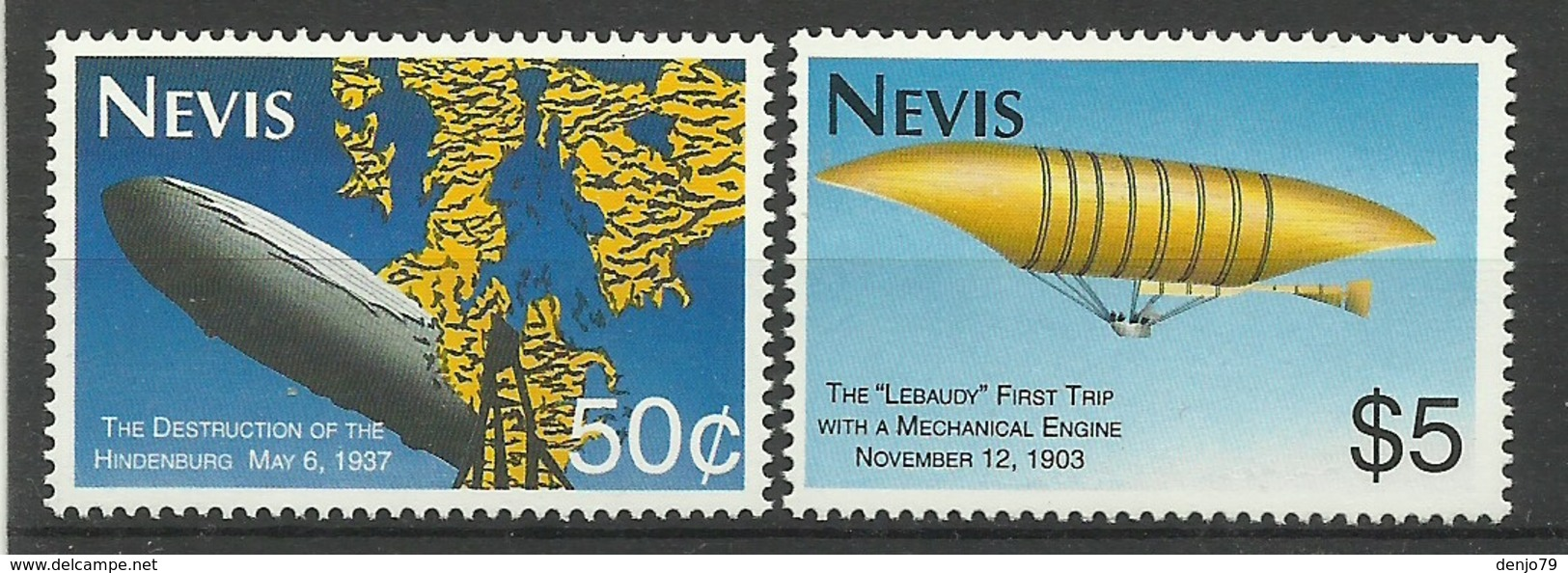 NEVIS  1993  ZEPPELINS  MNH - St.Kitts En Nevis ( 1983-...)