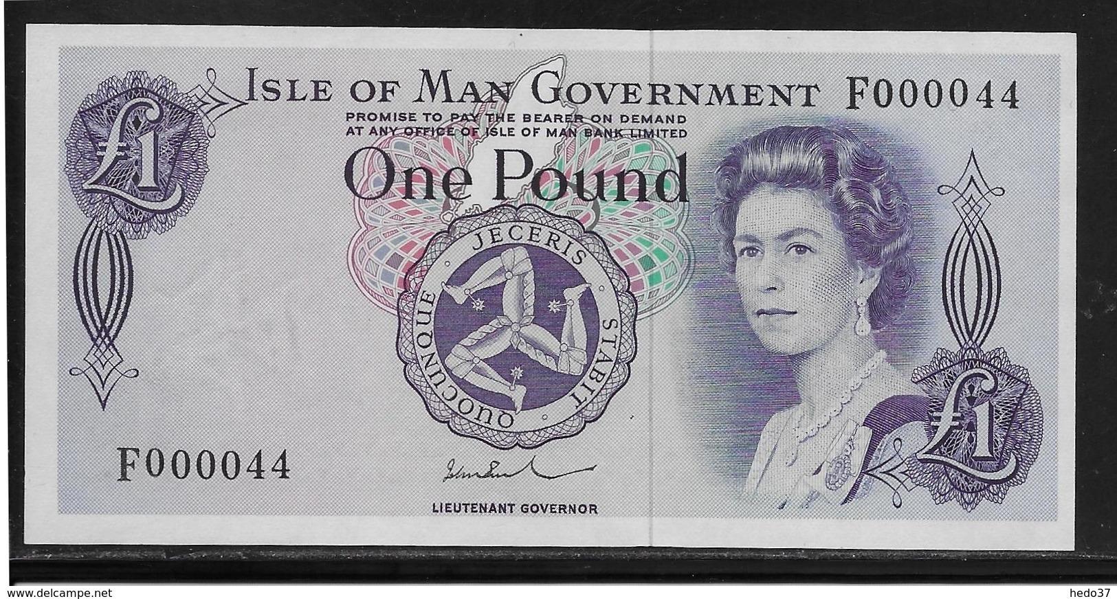 Ile De Man - 1 Pound - Pick N°29 - NEUF - RARE - 50 New-pence