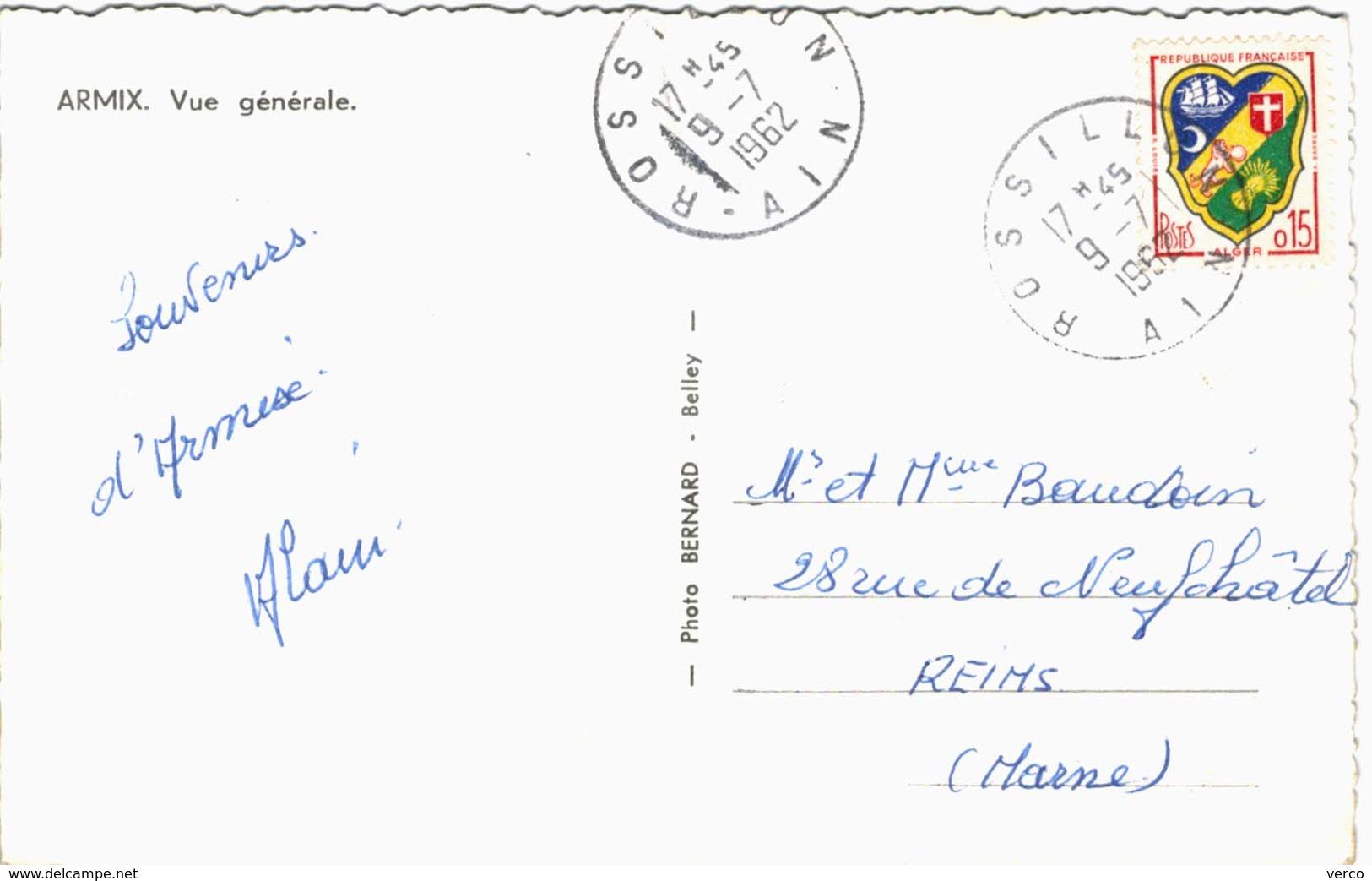 Carte Postale Ancienne De ARMIX-vue Générale - France