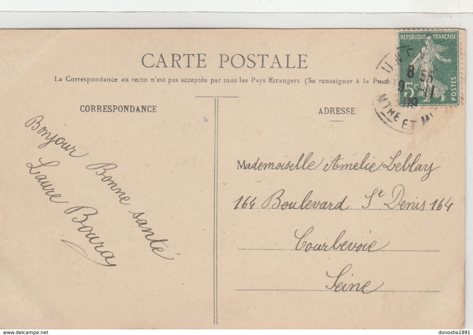 Souvenir De LUNEVILLE -divers Aspects - Coiffe - Jolie Fille , Roses -fantaisie Timbrée 1908 - Luneville