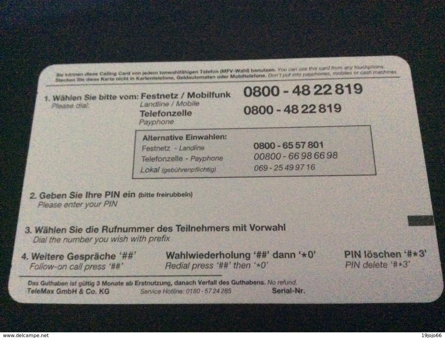 5 Euro Brandenburger Tor - Go Cash Europe -   -  Little Printed  -   Used Condition - [2] Prepaid